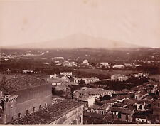 PHOTO VINTAGE ITALIE par SOMMER : CATANIA - PANORAMA 2615, vers 1880