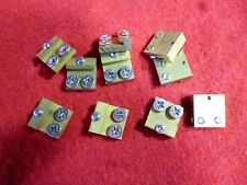 10 BRASS G SCALE RAIL CLAMPS  NEW ARISTO-CRAFT TOP SCREWS FIT LGB / USA TRAINS