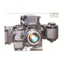:Canon F-1 Complete Camera System Brochure - English - 18 Pages w/ Pictures