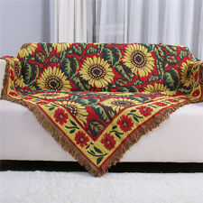 Universal Sofa Throw Blanket Floral Thick Cotton Blanket Bedspread Settee Covers