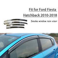 2MM Window Visor Wind Guard Outside Mount 4pcs 2009-2016 Ford Fiesta Hatchback