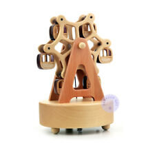 """Play """"Kiss the Rain"""" Wooden Ferris Wheel Music Box With Sankyo Musical Movement"""