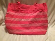 Victoria Secret pink striped Large Beach Tote Bag