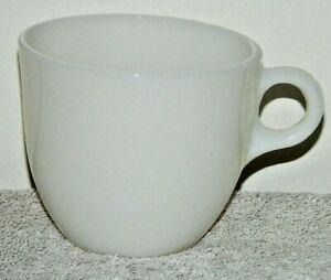 VINT 1940's FIRE KING IVORY C HANDLE ST. DENIS COFFEE MUG CUP UNUSED MULTIBLE