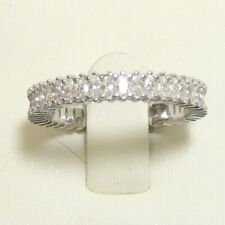 Eternity Band Ring Size 8 925 Sterling Silver Simulated Withe Diamond
