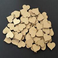 Wooden Love Hearts Shape Embellishments Craft Blank Wedding Decor Christmas mdf