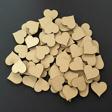 Wooden Love Hearts Shape Embellishments Craft Blank Wedding Decor Christmas mdf