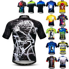 Herren Fahrrad Trikot Shirt Kurzarm Biking Shirts Reiten Tops Outdoor-Kleidung