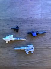Original Transformers Weapons Guns Bundle G1 Headmaster Skull, Smokescreen Gun