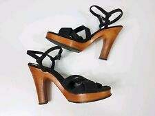 Kinney Shoes Vintage Open Toe Sandals Strappy 70s 7.5B
