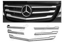 Mercedes Sprinter Front Grille Chrome Trim Strip Stainless 5Pcs Facelift 2014 >