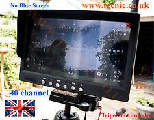 7 pouces 5.8ghz 40 channel fpv moniteur non écran bleu