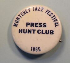 Original 1966 Monterey Jazz Festival Press Button Pin Ellington Muddy Waters