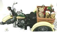Franklin Mint Harley Davidson 2009 Christmas 1947 Servi-Car 1:10 Scale B11F864