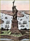 Currier & Ives: The Great Bartholdi Statue Art Print