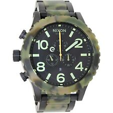 Nixon 51-30 Chrono Matte Black/Camo A083-1428 Watch Army