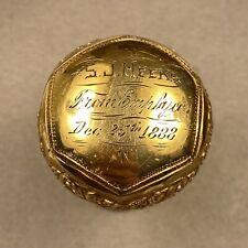 Antique Gold Filled Handle Presentation Cane - S.J. Meeks - 1888
