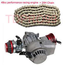 Performance Racing 47 49cc Engine Motor Mini Quad Dirt Bike ATV + 25H Chain