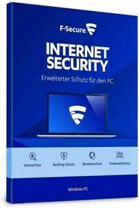 F-Secure Internet Security 2021 1, 3 oder 5 Geräte 1, 2 oder 3 Jahre Download