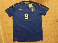 NWT Puma Euro 2016 Italy #9 Mario Balotelli Blue Home Jersey (Men Size MEDIUM)