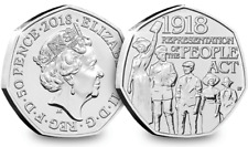 New 2018 50p Fifty Pence Representation People Act 1918 Suffragette Uncirculated