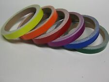 Colored Vinyl Plastic Tape, any 6 rolls of 1/2 inch x 25 ft, Glossy Tape Gloss