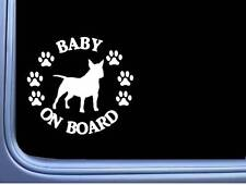 """Baby on Board Bull Terrier L542 6"""" Sticker dog decal"""