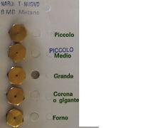 INIETTORI UGELLI KIT RICAMBIO CUCINA PIANO COTTURA METANO 8MB NARDI T.N. (00810)