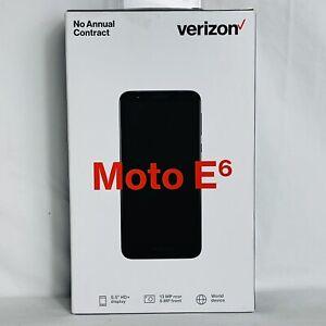 Motorola Moto E6 16GB - Starry Black (Verizon) Smartphone New Sealed