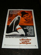 MURDERS IN THE RUE MORGUE Original 1971 Movie Poster, C8.5 Very Fine/Near Mint