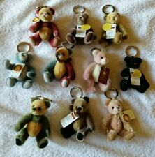 Ten Charlie Bears: Mini Mohair Keyrings from the footwear series