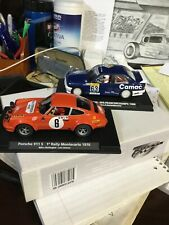 VINTAGE 2 PIECE FLY RACE CAR GROUP / #63 BMW / #6 PORSCHE 911S / NEW OLS STOCK!!