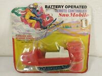 Vintage Durham Battery Operated Remote Controlled Snowmobile Japan # 8606