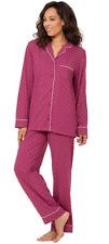 PajamaGram Pajama Set for Women - Cotton Jersey Pajamas Women FUSCHIA X-SMALL
