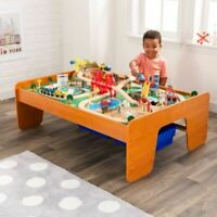 KidKraft Ride Around Town Train Set & Wood Table with 100 accessories included