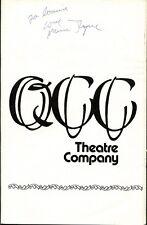QCC Theatre Co. - JACQUES BREL IS ALIVE...  - Signed Program - Turque, Lander +1