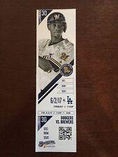 Clayton Kershaw 2,000 K 2000 Strike Out Strikeout Ticket Stub Dodgers Brewers