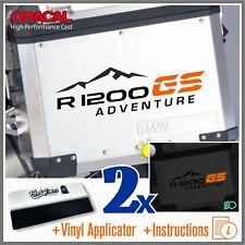 2x R1200GS ADVENTURE black/orange BMW PEGATINA ADESIVI AUTOCOLLANT STICKERS