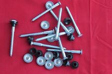 "10 x Mirror Screws CHROME Dome Heads.Plastic Washers. 2"" / 50mm Long Free P+P"