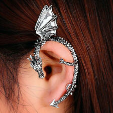 New Silver Plated Dragon Ear Cuff Earring Clip On Punk Wrap Stud Game of Thrones