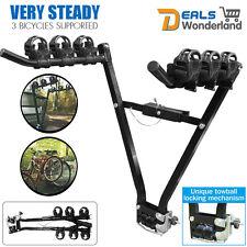 3 Bicycle Bike Rack Bike Car Van Rear Carrier Tow Ball Mount