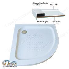 Piatto doccia in resina rinforzato antiscivolo tondo acrilico 90x90 h. 5,5 cm