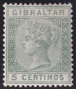 UK STAMP Gibraltar  1889 Queen Victoria, 1819-1901 5c MH/OG