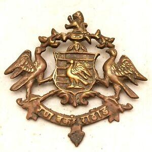 Rustic Cast Brass Antique Style ROYAL FAMILY COAT OF ARM Monogram Plaque #26