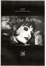 """21/1/95PGN21 ALBUM ADVERT 15X11"""" SIOUXSIE & THE BANSHEES : THE RAPTURE"""