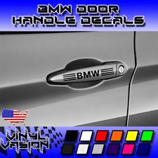 4x BMW Decal Car Door Handle Sticker M Power Performance MotorSport
