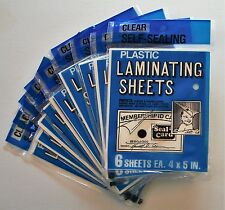10 packs-Seal a Card Plastic Laminating Sheets Pkg of 6 sheets / 60 sheets total