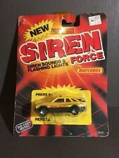 Matchbox Siren Force Airport Security Car  Carded