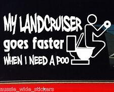 LANDCRUISER ute 80 100 series 4x4 diesel Funny Stickers MY POO 200mm