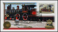 Transcontinental Railroad 2019 - 150th Anniv. Train Stamp First Day Cover #008